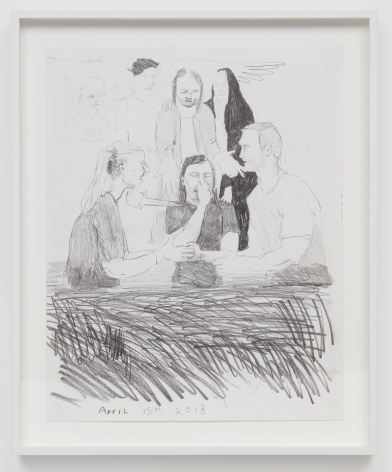 Celeste Dupuy-Spencer Down With The Old Man (You Know I'm Talkin' 'Bout This Weight), 2018 Pencil on paper 14 x 11 in 35.6 x 27.9 cm (CDS18.016)
