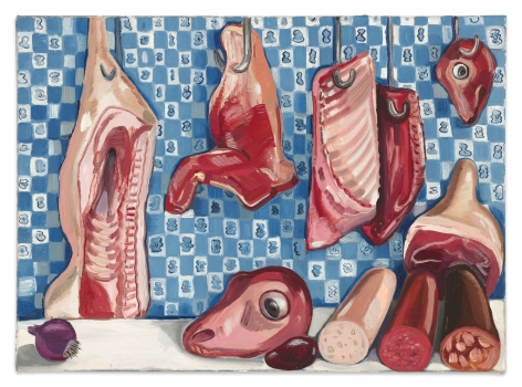 Nikki Maloof Little Butcher Shop, 2021 Oil on linen 12 x 18 in 30.5 x 45.7 cm (NMA21.023)