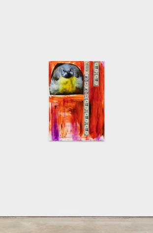 Peter Bonde ANGRY BIRD - UNTITLED, 2021 Mixed media on canvas 39 3/8 x 27 1/2 in 100 x 70 cm (PB21.006)