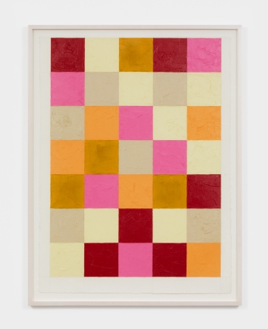 Dashiell Manley grid, 2021 Oil stick on paper 22 x 30 in 55.9 x 76.2 cm (DMA21.014)