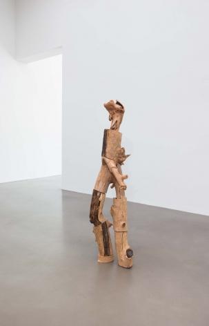 Nicola Tyson Dancing Figure 1, 2016 Apple, elm, and wood 70 x 22 x 16 in 177.8 x 55.9 x 40.6 cm (NTY21.001)