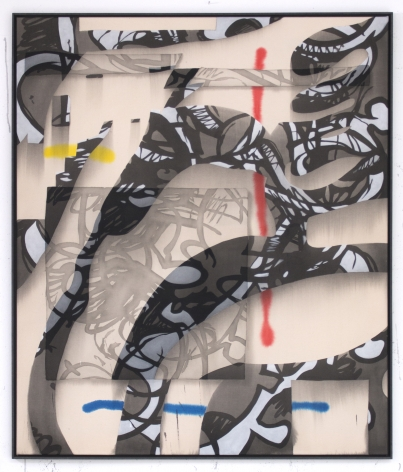 Jan-Ole Schiemann, Ohne Titel, 2016. Ink and acrylic on canvas, 51.2 x 43.3 inches, 130 x 110 cm (JS16.007)