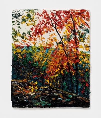 Robert Terry Rock Ledge, Hudson River, 2012 Oil on board 20 x 16 in 50.8 x 40.6 cm (RTE21.003)