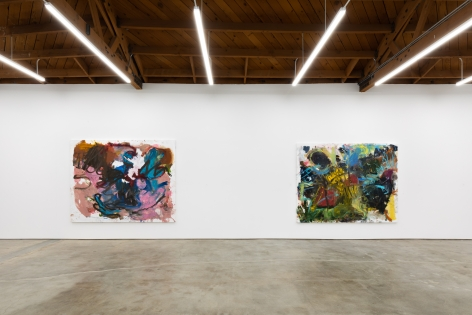 """Installation View of """"I'm Staying Away If I Can"""" and """"Traeumerei"""""""