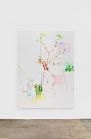 Gerlind Zeilner Flow, 2019 Oil and egg tempera on canvas 86 5/8 x 63 in 220 x 160 cm (GZE20.004)