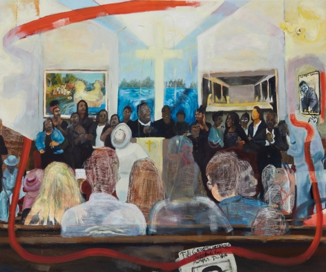 Celeste Dupuy-Spencer ,To be titled, 2018. Oil on linen, 40 x 48 in, 101.6 x 121.9 cm (CDS18.041)