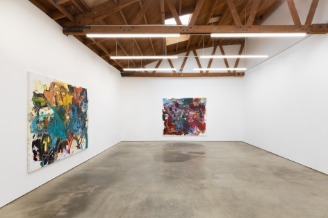 """Installation View of """"Bigger Anke Weyer Painting"""", and """"Eye Beep"""""""