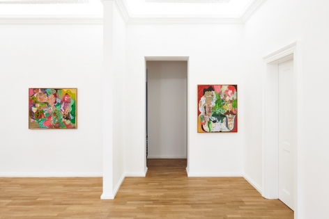 Installation view 9 of Michael Bauer: New Paintings (April 19-22, 2018) at Salon Nino Mier, Cologne
