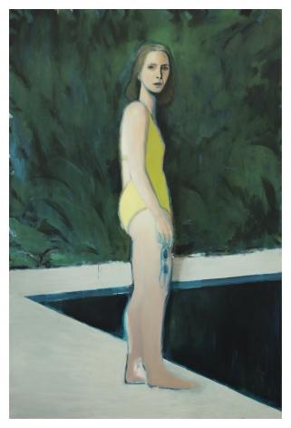Jonathan Wateridge Reflecting Pool, 2020 Oil on linen 88 5/8 x 59 1/8 in 225 x 150 cm (JWA20.019)