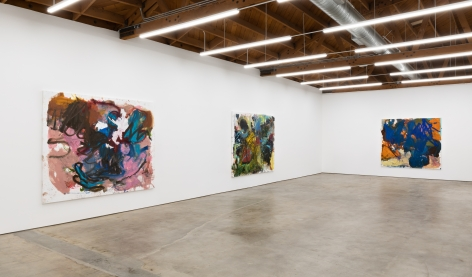 """Installation View of """"I'm Staying Away If I Can"""", """"Traeumerei"""", and """"Dancing"""""""