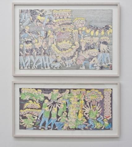 Installation view,Nicholas Buffon: Applied Flesh,Callicoon Fine Arts, New York, NY, 2012