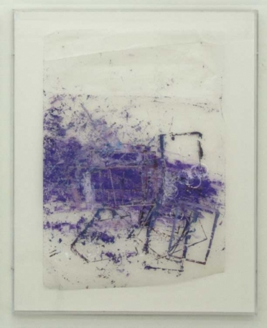 An abstract composition in purple