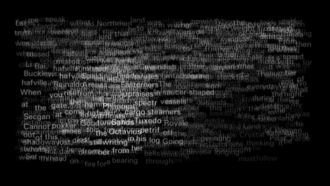 A black field with text overlapping in white. The image is a video still.