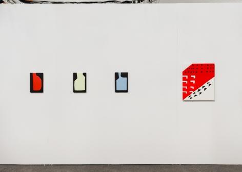 A photograph of 4 Sadie Benning artworks