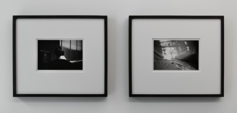 A photograph of 2 framed black and white photographs