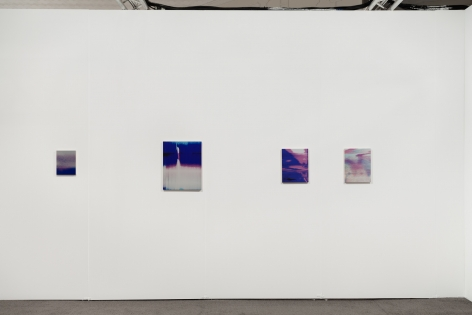 A photograph of 4 James Hoff Skywiper artworks