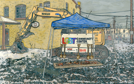 Drawing of construction site