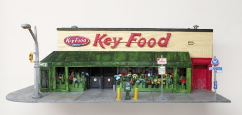 A 3D rendering of Key Food supermarket in the East Village
