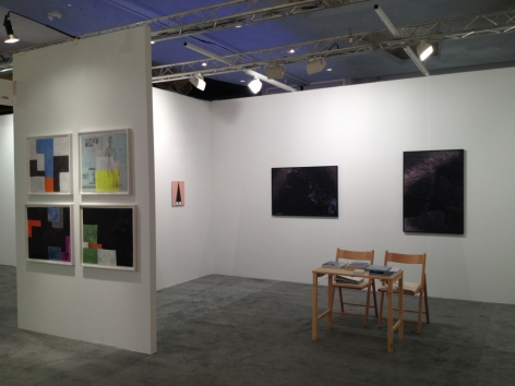 Another view of the art booth, where we see inside to the left wall