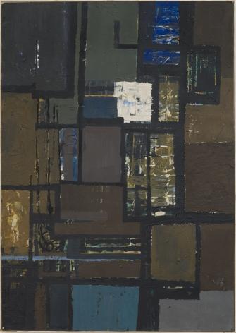 Fields, 1958 oil on paper