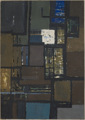 Fields, 1958 oil on paper