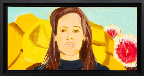 Alex Katz Woman with Flowers 1, 2000