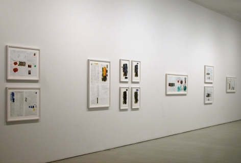 Installation view of David Reed, Works on Paper, 2010 at Peter Blum SoHo.