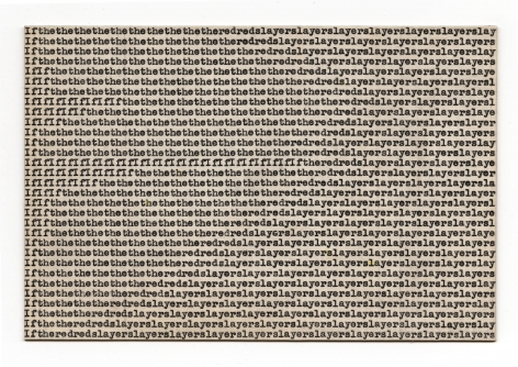 Carl Andre If the red, 1958-1963