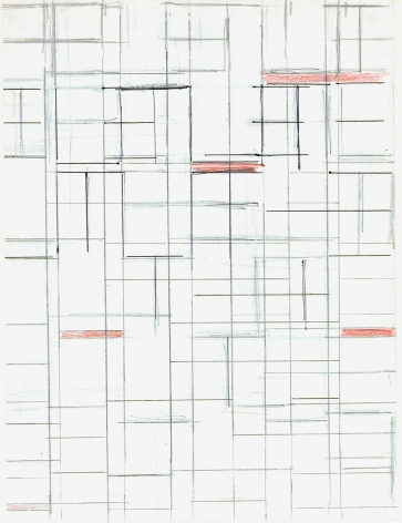 Helmut Federle Drawing by my names by moving to the right, 1980