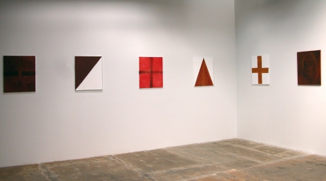 Installation view of Paintings, Group Exhibition, 2010 at Peter Blum Chelsea.