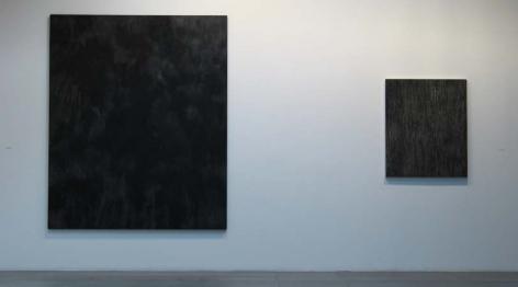 Installation view of William Anastasi, opposites are indentical, 2008 at Peter Blum Chelsea.