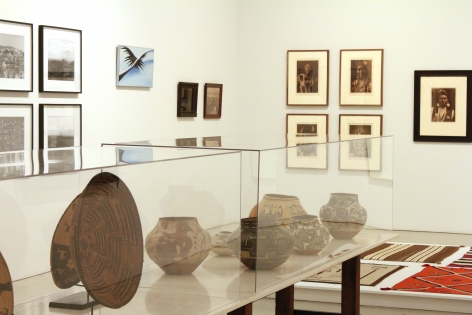 Installation ofKindred Spirits, Native American Influences on 20th Century Art, October 29, 2011– January 28, 2012