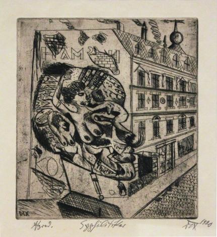 Otto Dix Der Syphilitiker, 1920