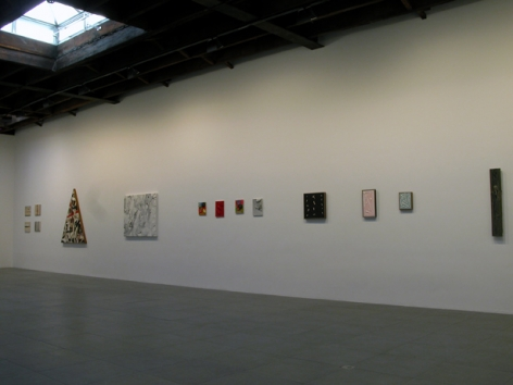 Installation view of Richard Allen Morris, Morris Code: Works from 1975 to 2007, at Peter Blum Chelsea, 2009.