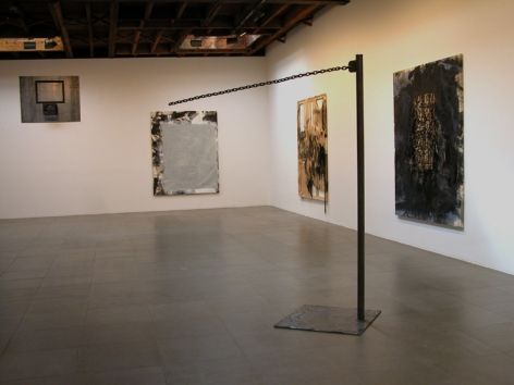 Installation view of Rosy Keyser, The Moon Ate Me, 2009 at Peter Blum Chelsea.