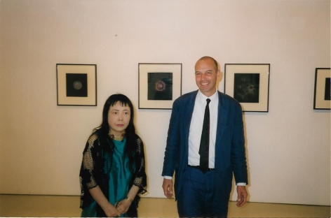 Yayoi Kusama and Peter Blum at herexhibition Works on paper from the 1950's, June 20 – September 30, 1998
