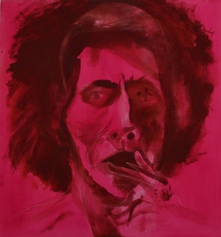 Head, 2011 acrylic,colored pencil, conte crayon