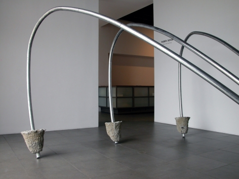 Installation of Ruben Ochoa, three the hard way, 2009 at Peter Blum Chelsea.