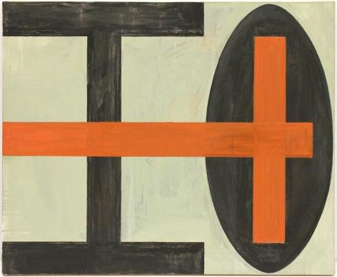 Helmut Federle Blume des Todes III (Rotes Kreuz), 1983/1989