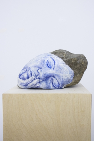 Untitled, 2014 colored pencil, paper, clay, stone, wood