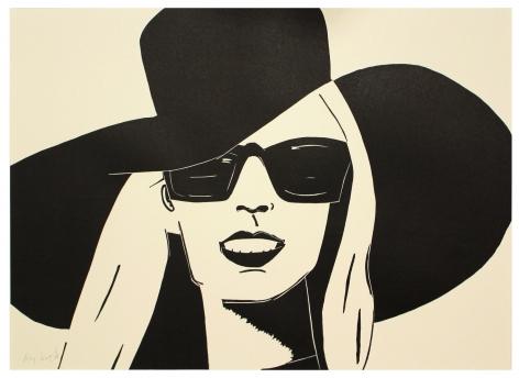 Nicole woodcut print