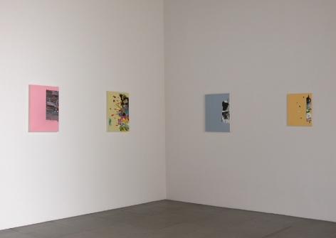Installation view of Paintings, John Zurier; Jason Fox; Richard Allen Morris, 2010 at Peter Blum Chelsea.