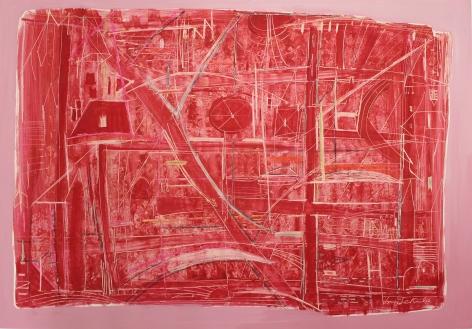 Sonja Sekula Untitled (Red Field), 1950