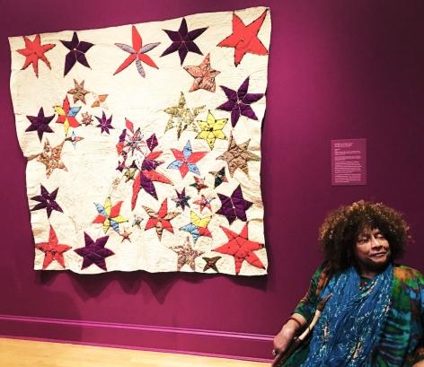 Joyce J. Scott at the opening ofHitching Their Dreams to Untamed Stars: Joyce J. Scott & Elizabeth Talford Scott, Baltimore Museum of Art Baltimore, MD (June15, 2019 – December1, 2019)