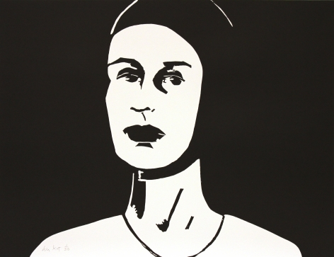 Alex Katz Black Cap (Ada), 2010