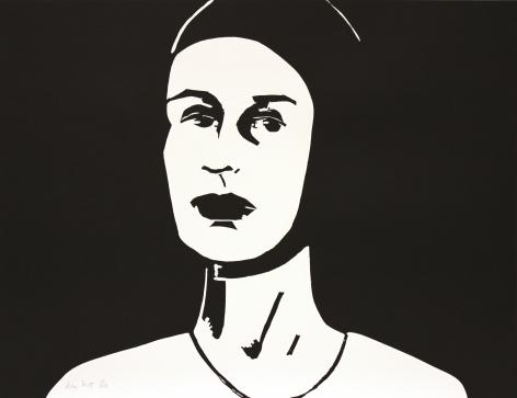 Alex Katz,Black Cap (Ada), 2010, Single print