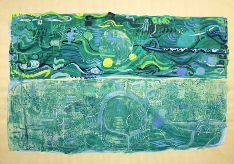 Air, 1956 mixed media on paper