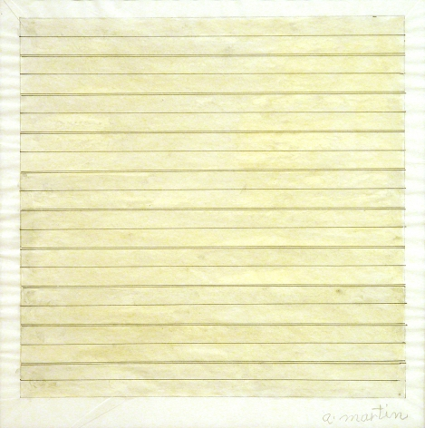Agnes Martin Untitled Drawing, 1979