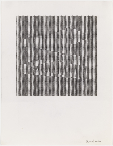 Carl Andre timetimetimetimetimetimetimetimetimetimetimetimetimetimetime, 1963