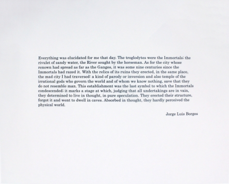 Colophon with a quote of Jorge Luis Borges